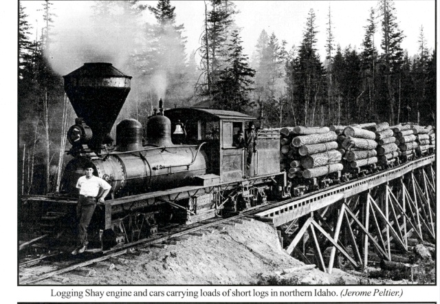 Shay Logging Locomotive at Cass West Virginia, 1900-60 by Philip V Bagdon